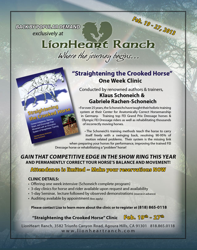 Straightening the Crooked Horse Clinic at Lionheart Ranch
